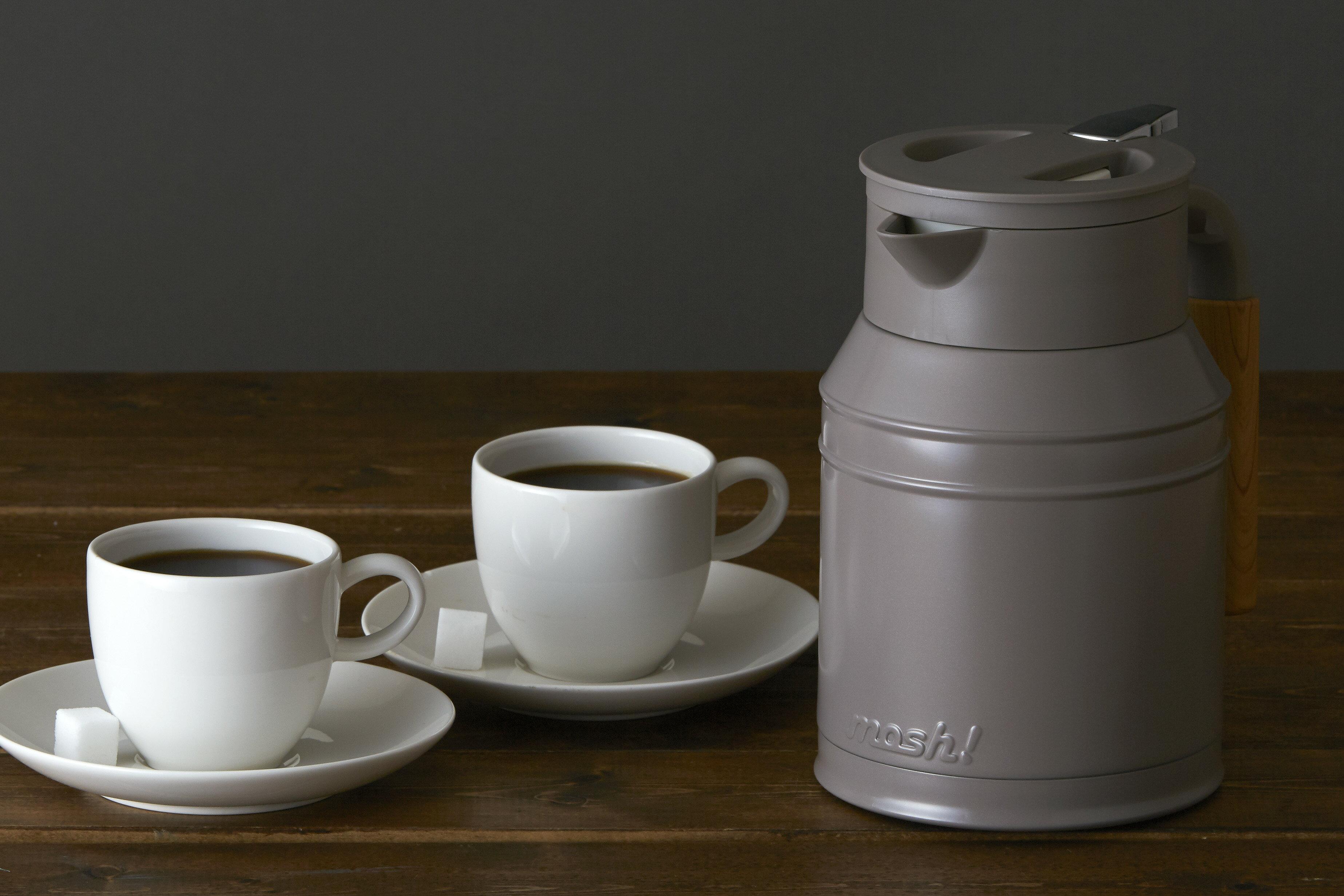 【日本mosh!】牛奶白 牛奶罐保溫壺 (1000ml) 6