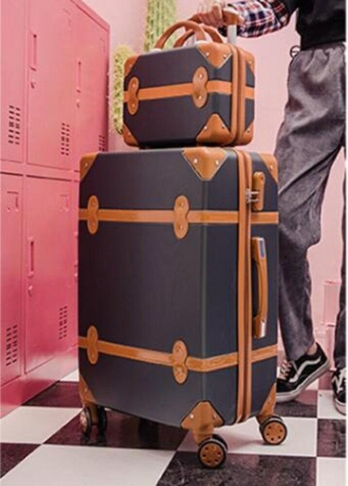 旅行箱 小清新密碼箱拉桿箱萬向輪旅行箱行李箱男女皮箱 印象部落