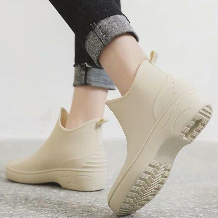 LINAGI里奈子【S92243】日系時尚低筒雨鞋  工作鞋 防滑防水
