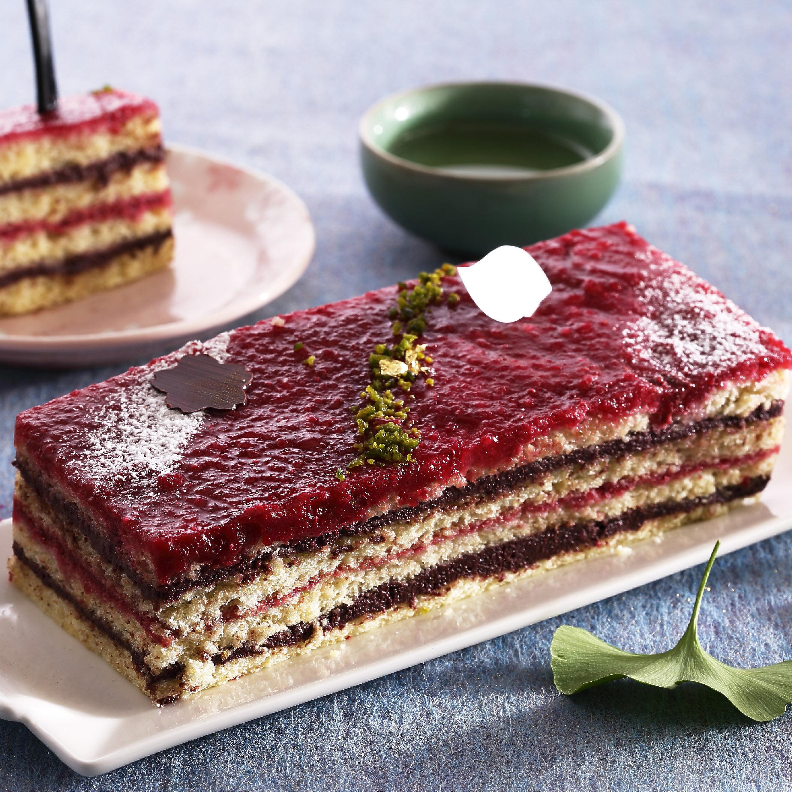 【七見櫻堂】八重京緋★黑醋栗蔓越莓蛋糕 - 長條禮盒★
