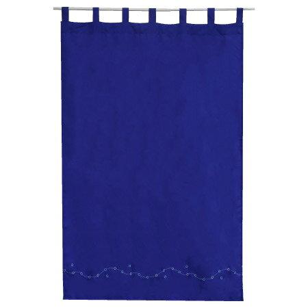 吊帶式窗簾 繡花藍 100x150