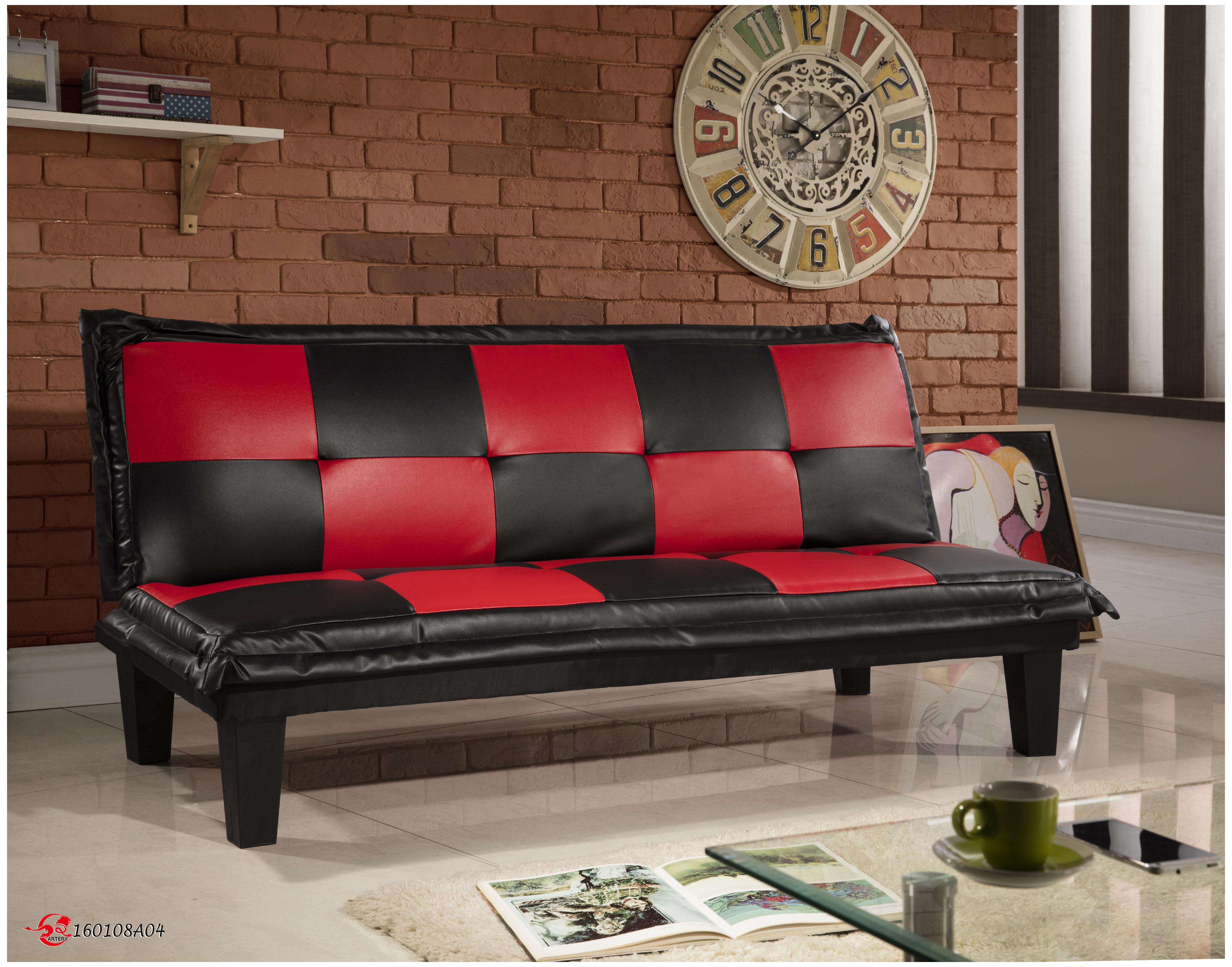 !新生活家具! 皮沙發床 黑色 紅色 三人位沙發床 套房出租 美式 復古《五子棋》 非 H&D ikea 宜家