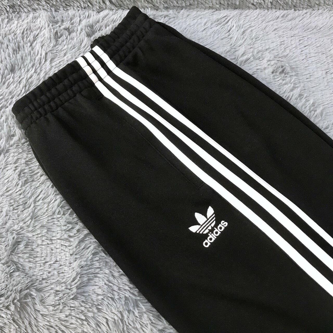 Adidas Originals 愛迪達 三葉草 AJ6960 黑白 黑色 三條 縮口褲 運動褲 運動長褲