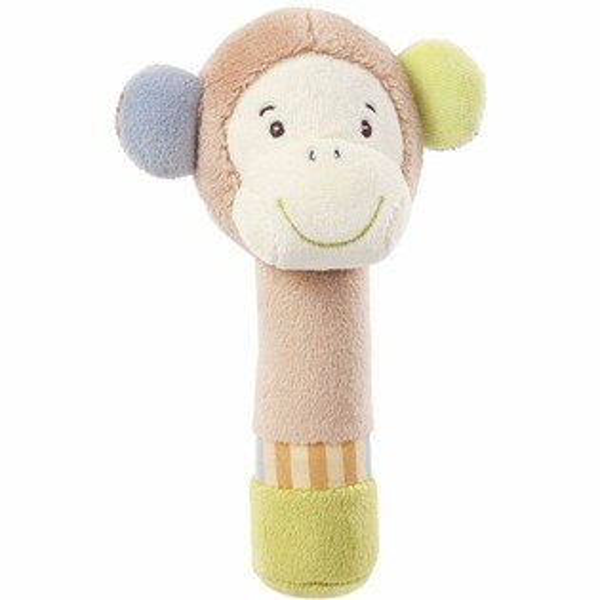 BabyFEHN芬恩叢林夥伴棒型小猴布偶手搖鈴【六甲媽咪】