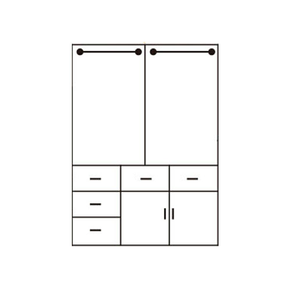 芮歐白象5*6.6尺衣櫃/衣櫥/H&D東稻家居