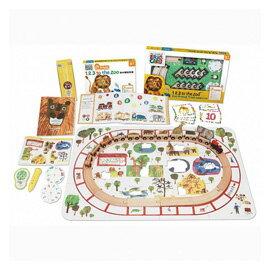 信誼 LIT MAGIC語言學習套裝:1, 2, 3到動物園(經典繪本+互動式點讀遊戲書+主題遊戲+魔法筆)