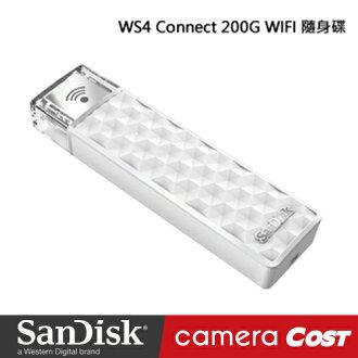 ★行動傳輸★SanDisk WS4 Connect 200G WIFI 隨身碟 無線 無線分享碟 200GB 公司貨