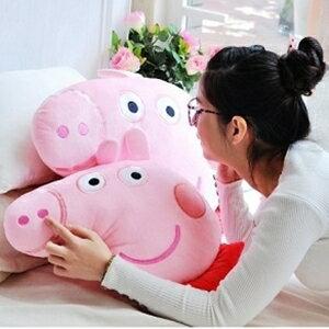 美麗大街【105040716】佩佩豬粉紅豬12吋造型抱枕靠枕