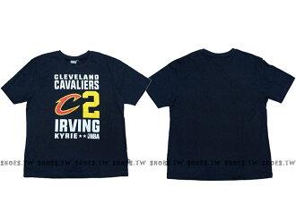 Shoestw【8660258-111】NBA T恤 克里夫蘭 騎士隊 2號 IRVING KYRIE 深藍色 短袖棉T