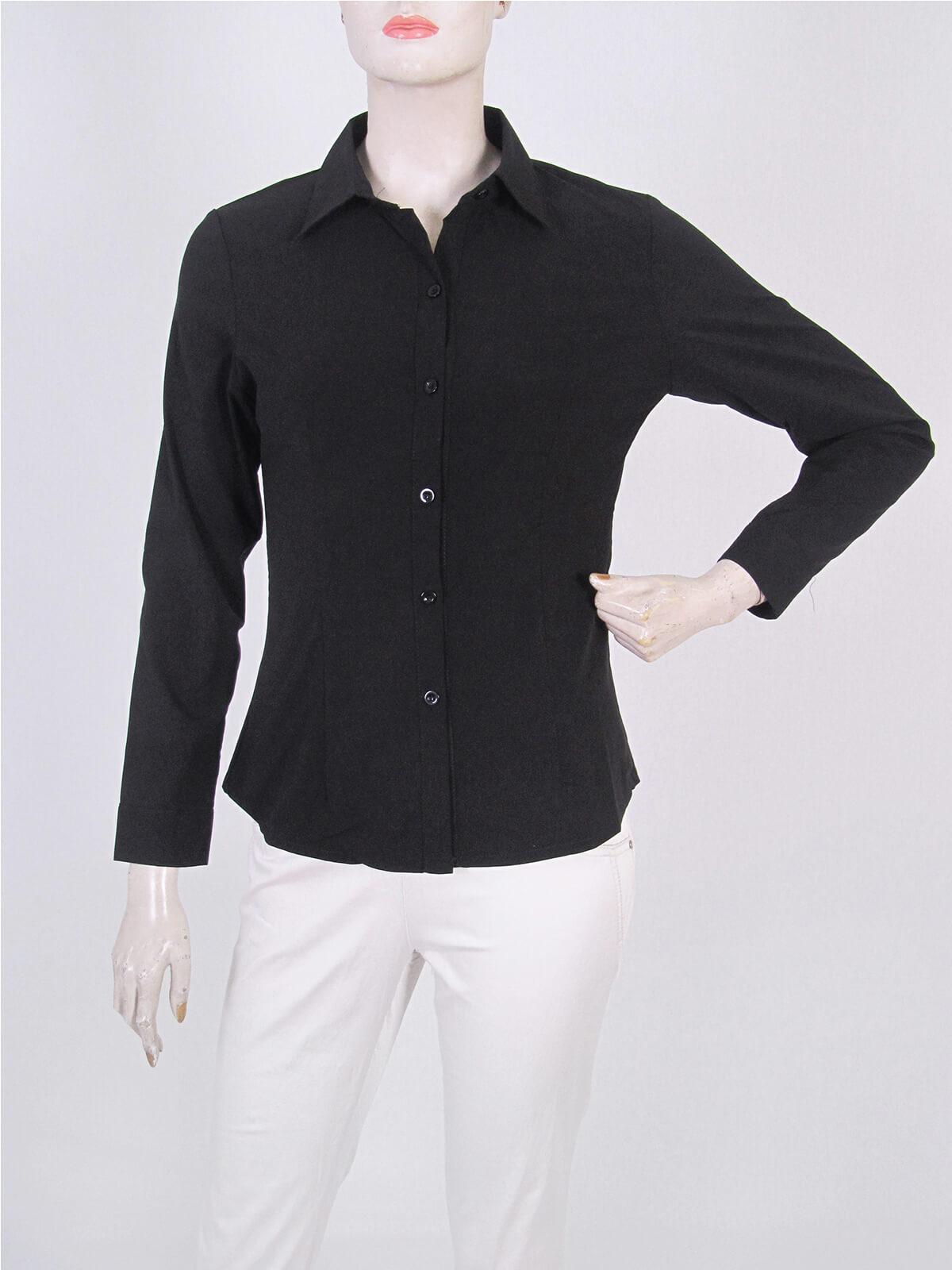 腰身剪裁淑女素面襯衫 修身長袖襯衫 合身顯瘦標準襯衫 正式襯衫 面試襯衫 上班族襯衫 商務襯衫 防曬襯衫 (333-A261-01)素面白色襯衫、(333-A261-21)素面黑色襯衫 胸圍32~50英吋 [實體店面保障] sun-e333 6