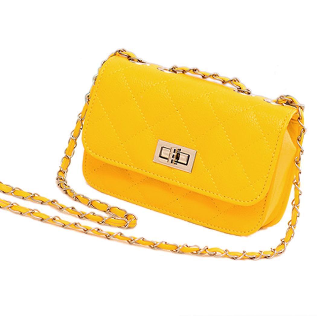 Leather Mini Chain Shoulder Handbag Purse 1