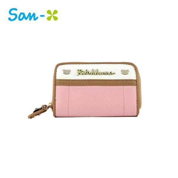 粉色款【日本正版】拉拉熊皮革零錢包卡片包懶懶熊RilakkumaSan-X-428607