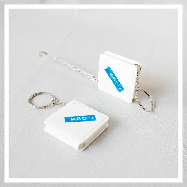 【aifelife】B版迷你鐵捲尺-方型伸縮捲尺測量工具量尺鐵尺鑰匙圈迷你捲尺隨身測量贈品禮品