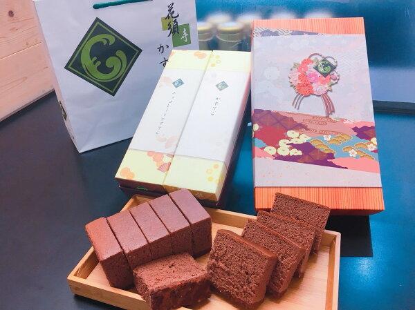 花須寺長崎蛋糕2入禮盒-原味+巧克力