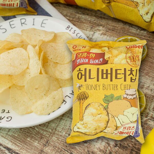韓國蜂蜜奶油洋芋片(60g)小包裝(海太HAITAI製作)【庫奇小舖】Calbee蜂蜜洋芋片