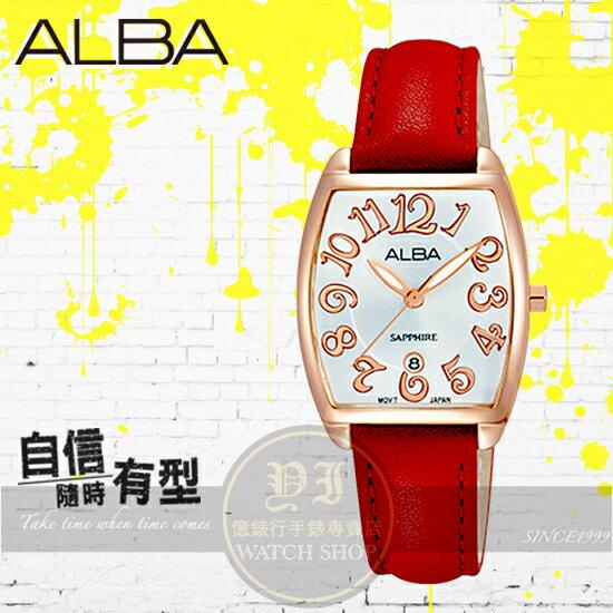 ALBA 劉以豪代言 俏女孩酒桶腕錶VJ22~X235U  AH7L32X1 貨