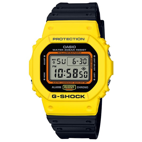 CASIO G-SHOCK DW-5600TB-1 多彩數位撞色時尚腕錶/48.9*42.8mm