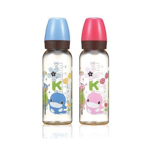 ★衛立兒生活館★KUKU酷咕鴨 歐風經典PES奶瓶標準口徑-240ml(顏色隨機出貨)