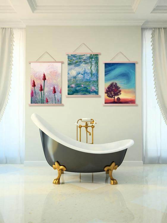歐式梵高星空布藝掛畫臥室客廳掛布宿舍改造背景牆布ins網紅掛毯