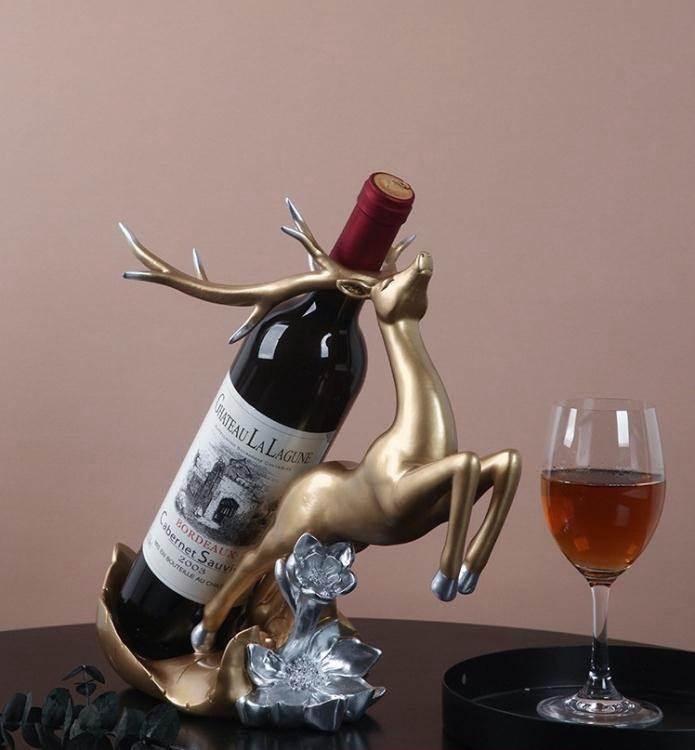 現代紅酒架擺件家用客廳立式酒櫃裝飾品多功能置物架擺設