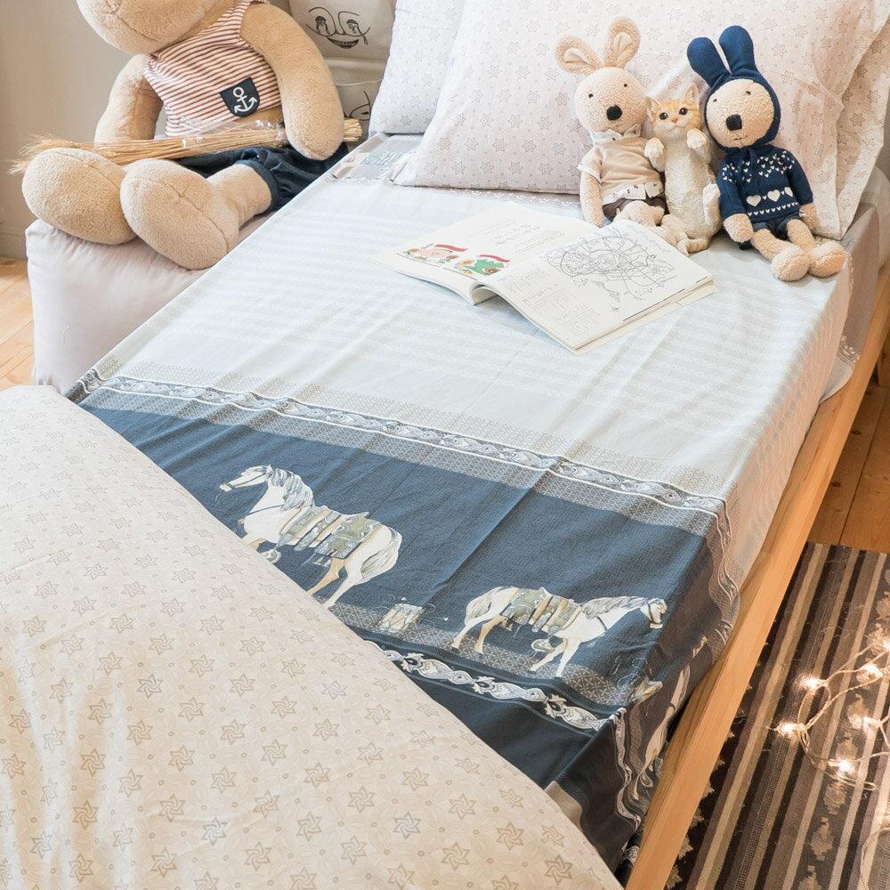 皇家白馬 床包/被套/兩用被/枕套 單品賣場 100%復古純棉