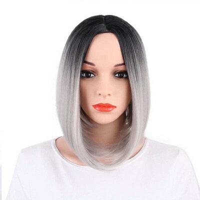 短假髮整頂假髮-鮑伯頭中分漸層短直髮女假髮6色73rr21【獨家進口】【米蘭精品】