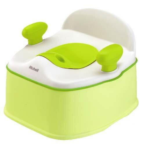 Richell利其爾 - Pottis 椅子型三階段訓練便器 (綠)
