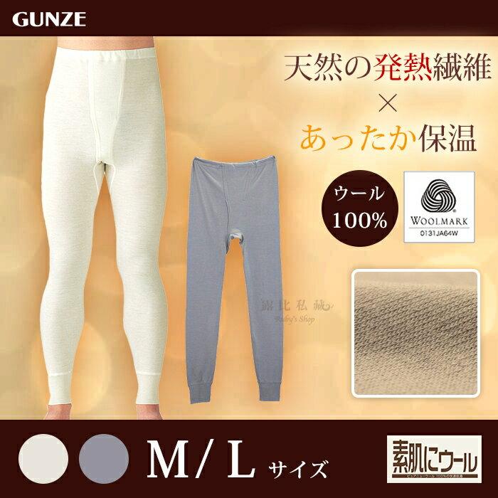 日本【Gunze郡是】純羊毛薄型男性衛生褲/羊毛發熱褲 (M~L)