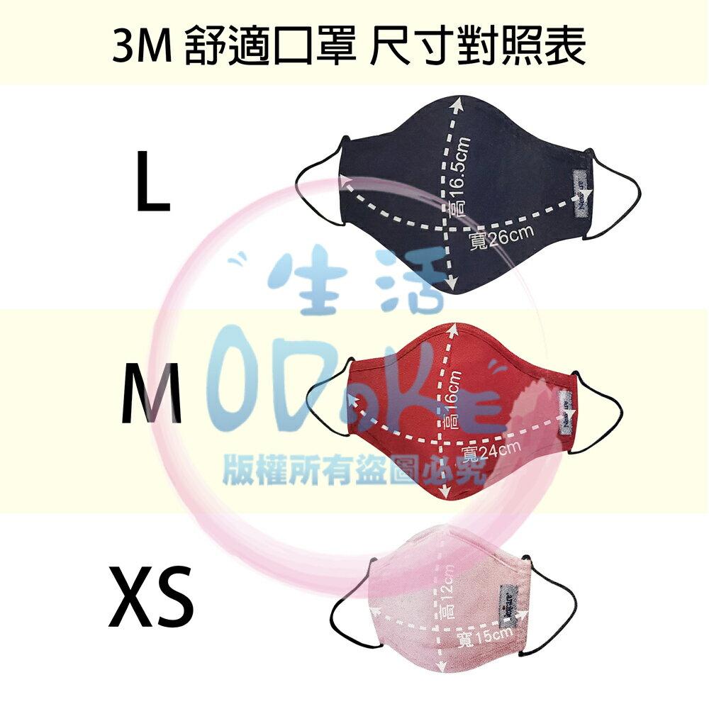 3M 舒適口罩 (單入) 保暖口罩 防風口罩 防塵口罩 可水洗 機車口罩 兒童 / S / M / L【生活ODOKE】 4