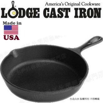 [ Lodge ] 鑄鐵鍋/荷蘭鍋/煎鍋 美國製 8吋鑄鐵平底鍋/20cm L5SK3