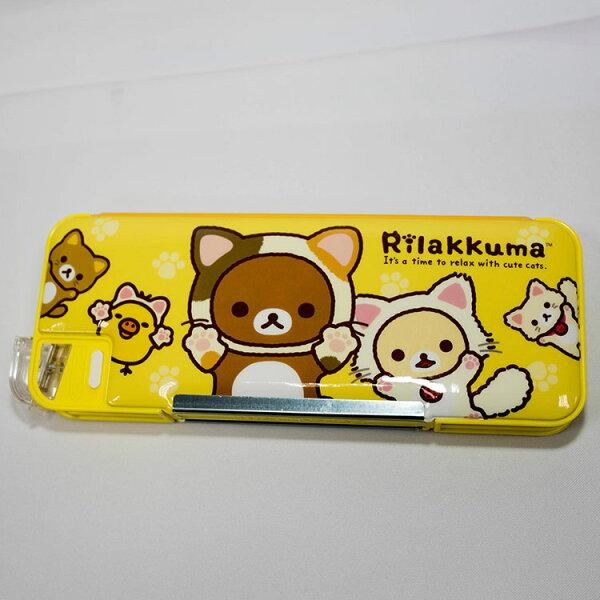 拉拉熊雙面筆盒附削鉛筆機三菱日本製Rilakkuma