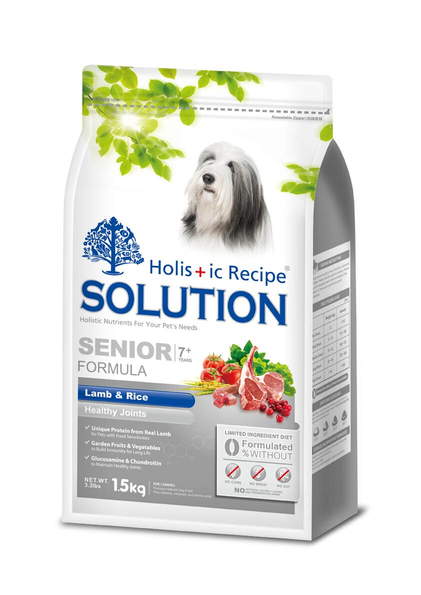耐吉斯高齡犬 老犬關節保健配方羊肉+田園蔬菜(小顆粒)3KG