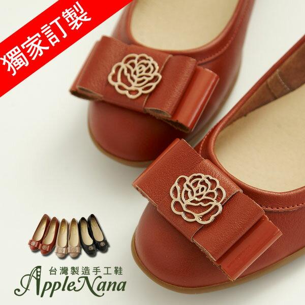 AppleNana。我愛山茶花。雙層蝴蝶結口碑推薦軟Q楔型小坡跟娃娃鞋【QC682911280】蘋果奈奈蘋果奈奈