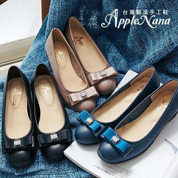 AppleNana。千金小姐水鑽雙層蝴蝶結楔型娃娃鞋【QC68451280】蘋果奈奈 1