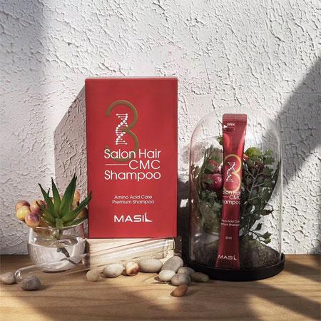 韓國 MASIL 3次方洗髮水隨身包 (8ml x20入/盒) 洗髮精 旅行包 隨身包 旅行用 出國 出差 沙龍【N601006】