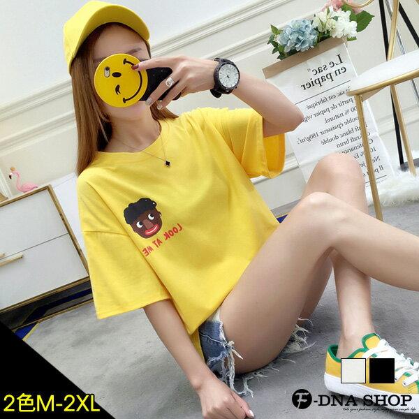 F-DNA★可愛黑人寶寶印圖短袖上衣T恤(2色-M-2XL)【ET12636】