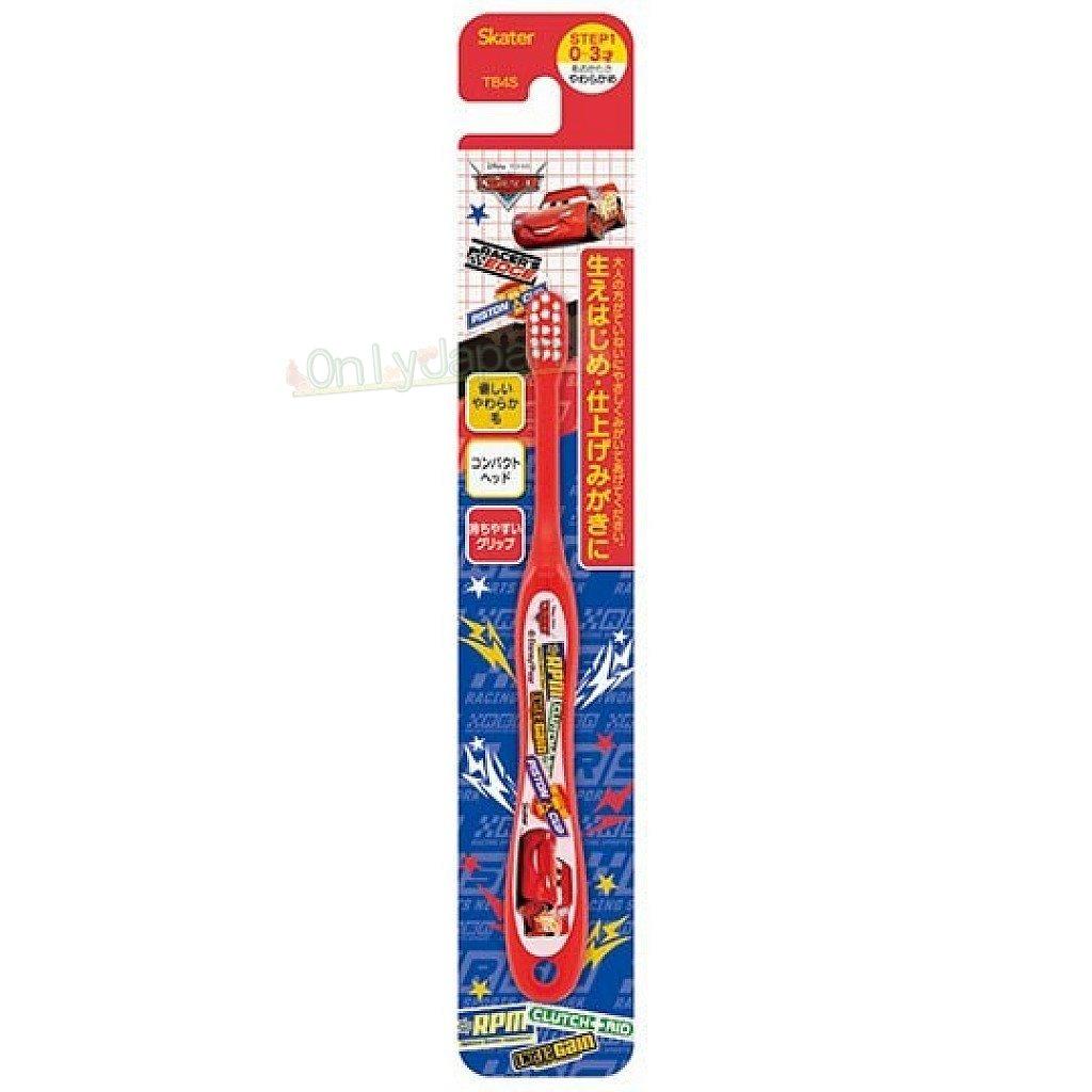 【真愛日本】4973307452642 幼兒牙刷0~3歲-麥坤貼紙紅 汽車總動員 cars 閃電麥坤 迪士尼 幼兒牙刷 牙刷 盥洗用品 1