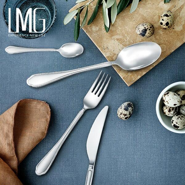 LMG304不鏽鋼蒂芬妮系列餐具五件組