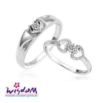 天然鑽石《心動系列》攜手永恒 鑽石對戒/韓風設計、情人節、生日禮、流行款、熱銷款【威世登時尚珠寶】