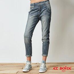 深V立體錐形牛仔褲 - BLUE WAY  ET BOiTE 箱子