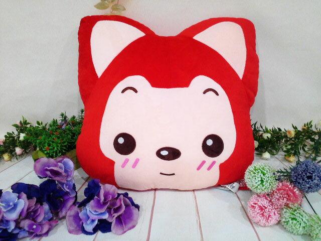~*My 71*~      絨毛娃娃 18吋 阿狸頭型抱枕 高 40cm 狐狸 造型 抱枕 玩偶 兒童 玩具 禮物