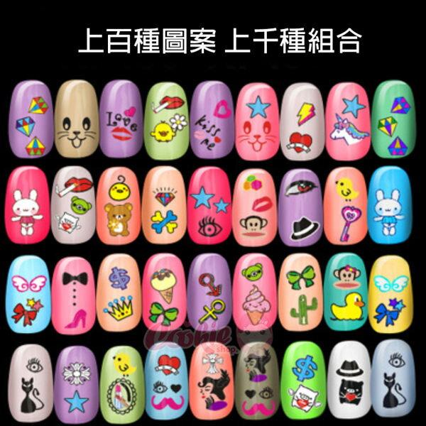 2016日韓卡通指甲貼百種圖案千種組合彩繪亮粉夜光磨沙3D指甲貼【庫奇小舖】