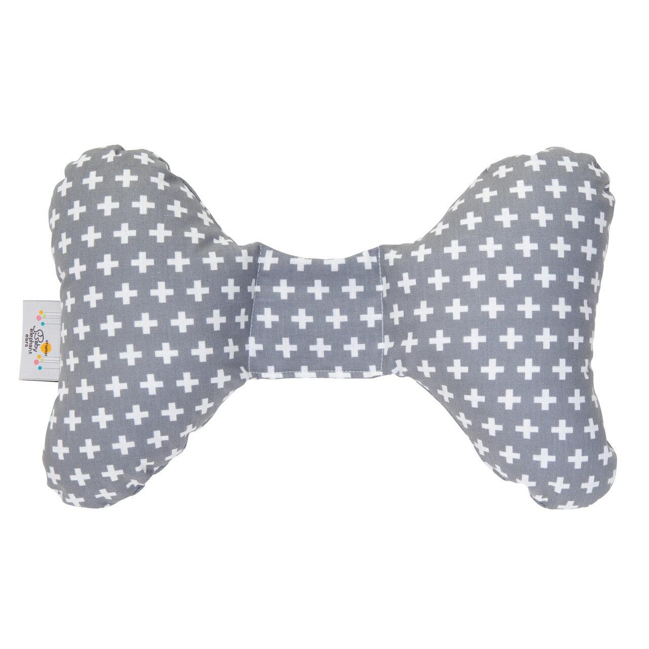 Baby Elephant Ears 寶寶護頸枕 - 白色十字花紋 GREY CROSS EAR / 34.5cmx20cmx5cm