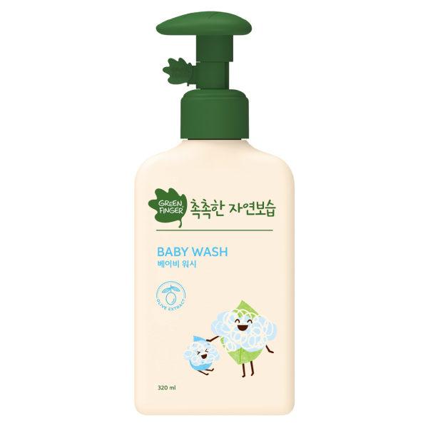 綠手指CHOKCHOK三效保濕嬰幼兒沐浴液320ml【六甲媽咪】