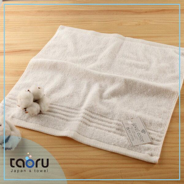 日本毛巾 / 居家實用款 : 珠寶盒 象牙白 34*35 cm (方巾 -- taoru 日本毛巾)