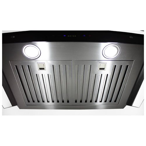 """AKDY 30"""" Stainless Steel AK668s3-75 Wall Mount Range Hood With Remote Control 2"""
