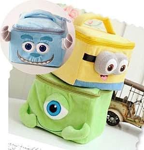 =優生活=怪獸大學 大眼仔 毛怪 MIKE 怪獸電力公司 方型化妝包 收納包 小提包 整理箱 收納盒