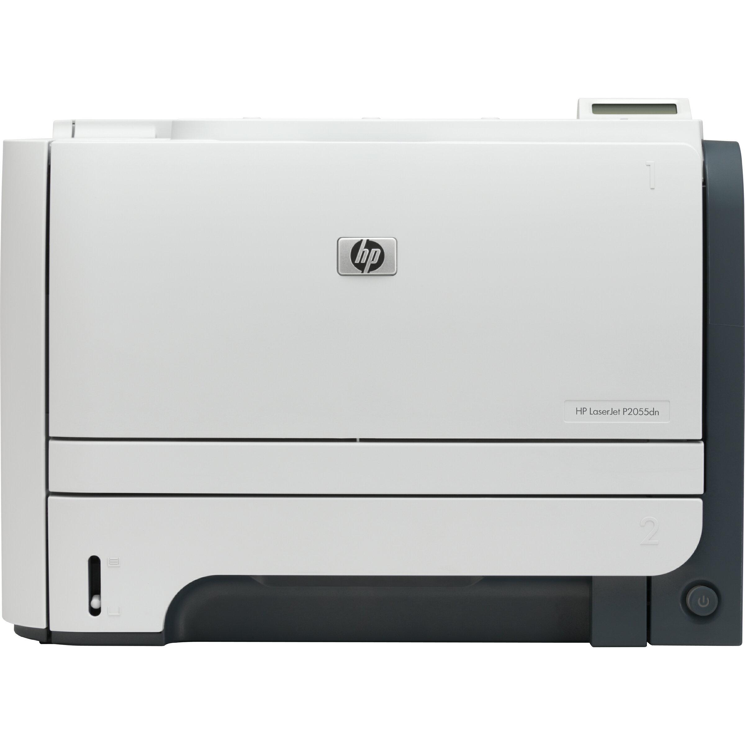 HP LaserJet P2055DN Printer - Monochrome - 1200 x 1200 dpi - USB - Gigabit Ethernet - Mac, PC 0