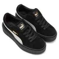 PUMA運動品牌推薦PUMA運動鞋/慢跑鞋/外套推薦到PUMA SUEDE CREEPER X RIHANNA 麂皮增高厚底鞋 黑