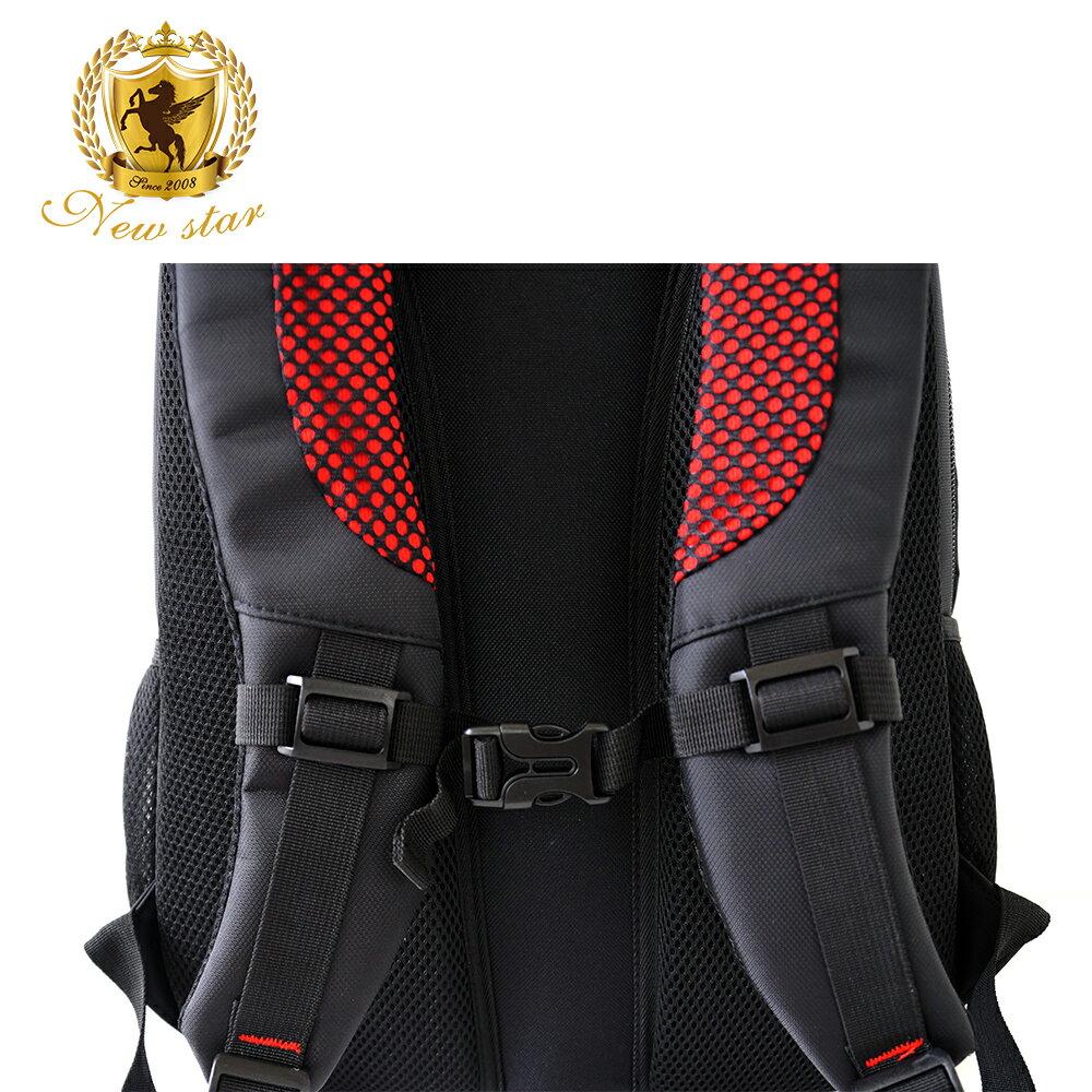 時尚簡約防水極簡雙層後背包電腦包 NEW STAR BK240 8